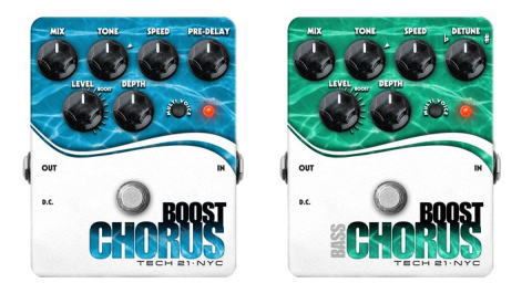 NAMM2011 Tech 21 Boost Chorus。