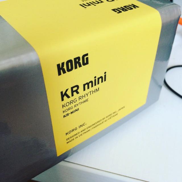 スピーカー内蔵リズムマシン KORG KR mini 購入レビュー